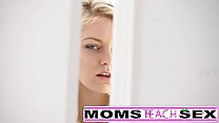 Step mom and son make legal age teenager squirt in hawt 3some