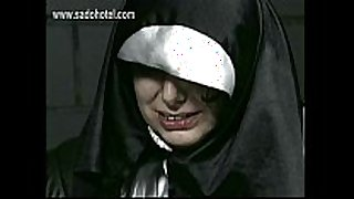 Naughty nun begs for forgiveness but is spanked...