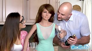 Realdoll 3some jmac and kelsi monroe t-rex cuckold